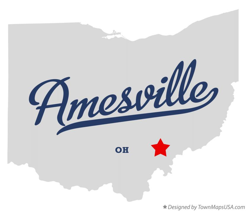 Map of Amesville Ohio OH