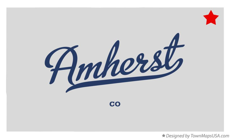 Map of Amherst Colorado CO