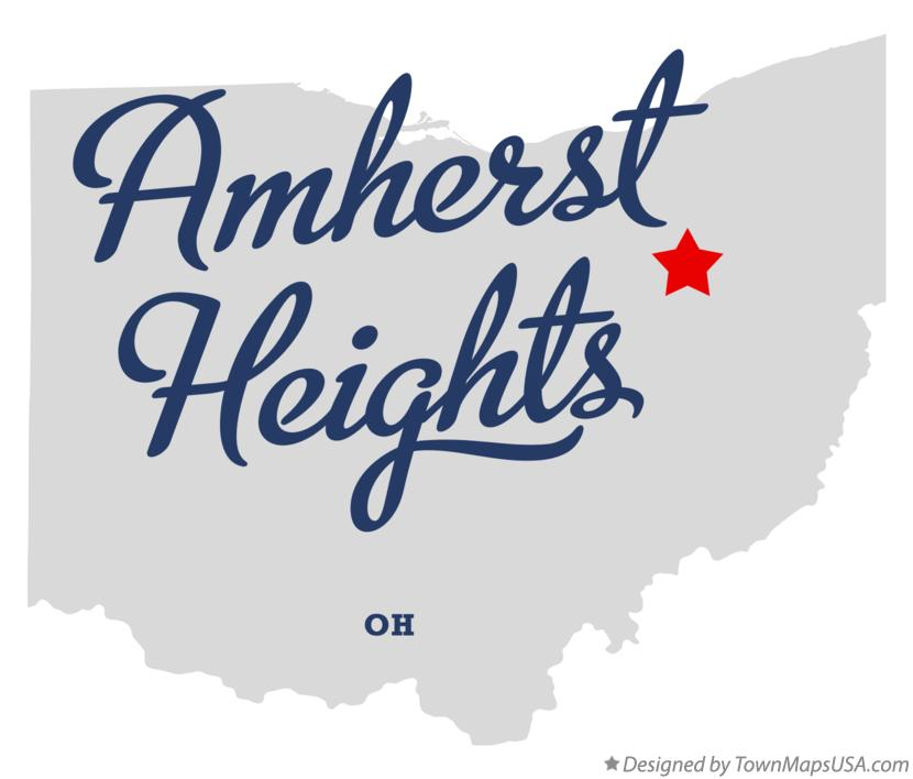 Map of Amherst Heights Ohio OH