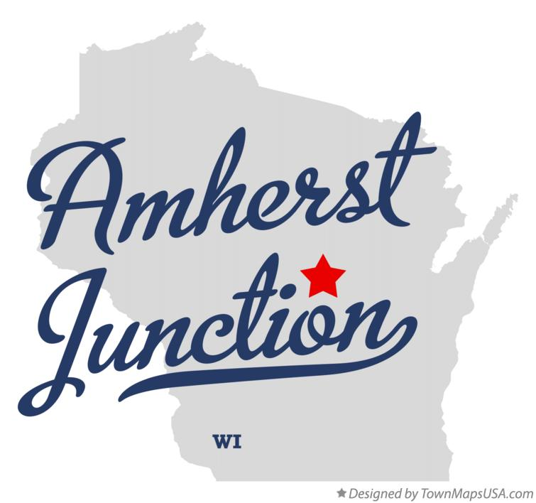 Map of Amherst Junction Wisconsin WI
