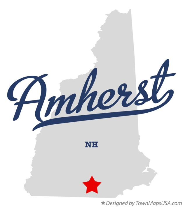 Map of Amherst New Hampshire NH