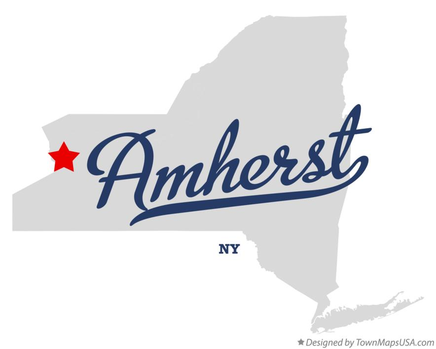 Map of Amherst New York NY