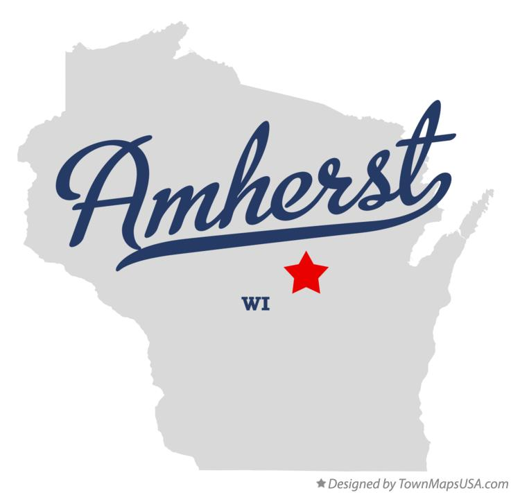 Map of Amherst Wisconsin WI