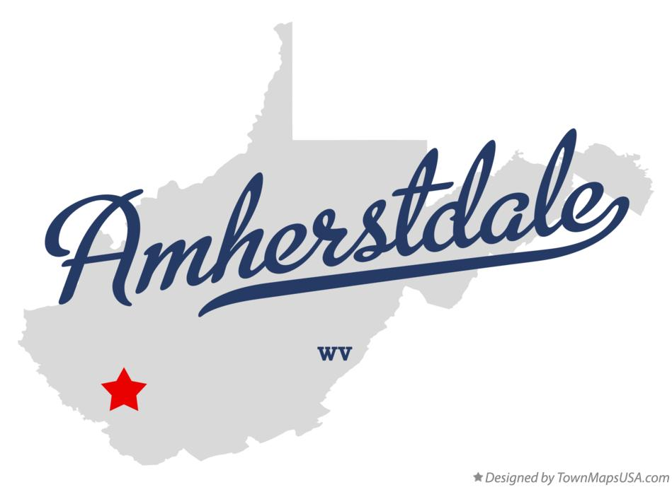 Map of Amherstdale West Virginia WV