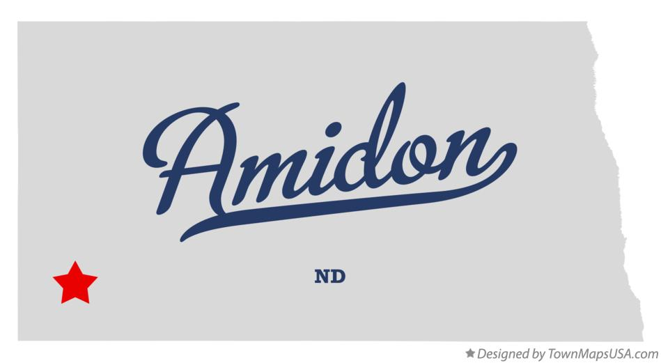 Map of Amidon North Dakota ND