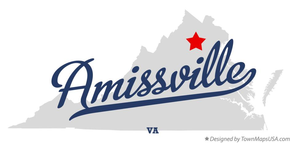 Map of Amissville Virginia VA