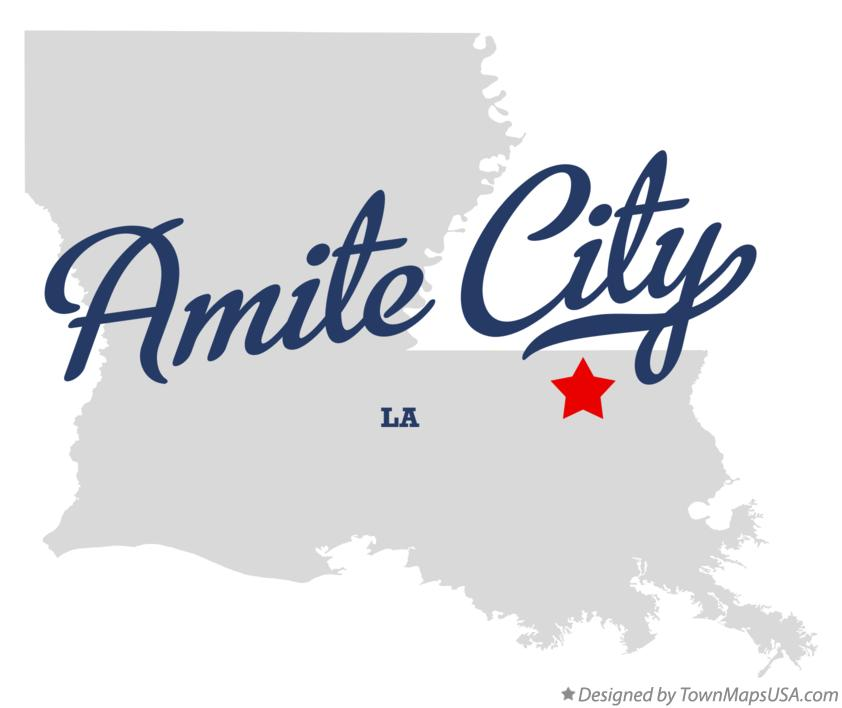 Map of Amite City Louisiana LA