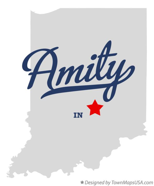 Map of Amity Indiana IN