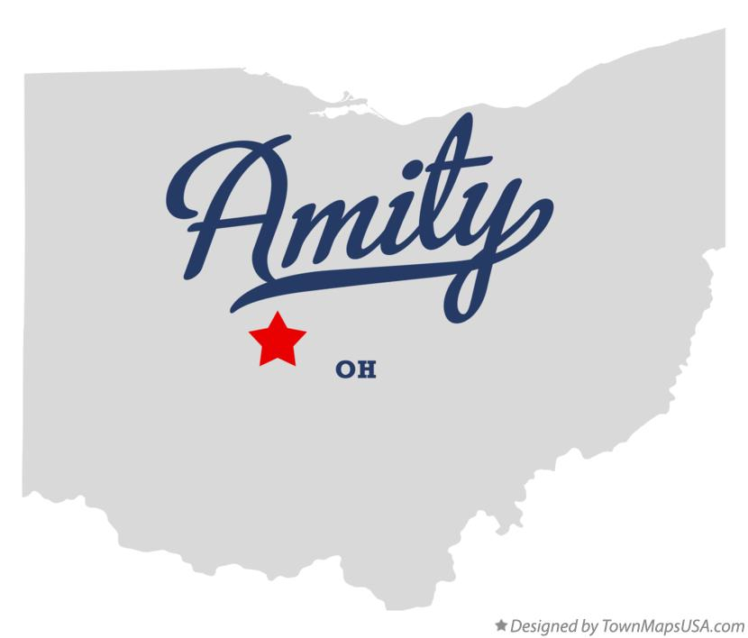 Map of Amity Ohio OH