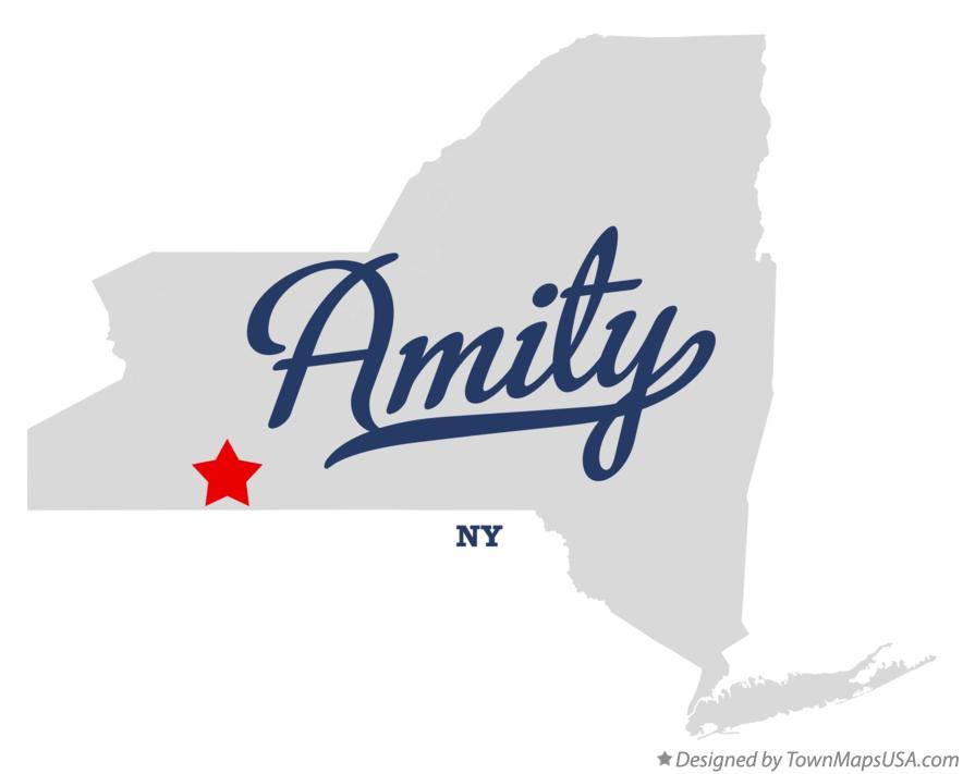 Map of Amity New York NY