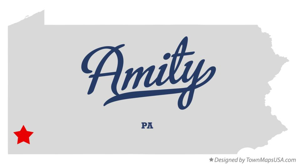 Map of Amity Pennsylvania PA