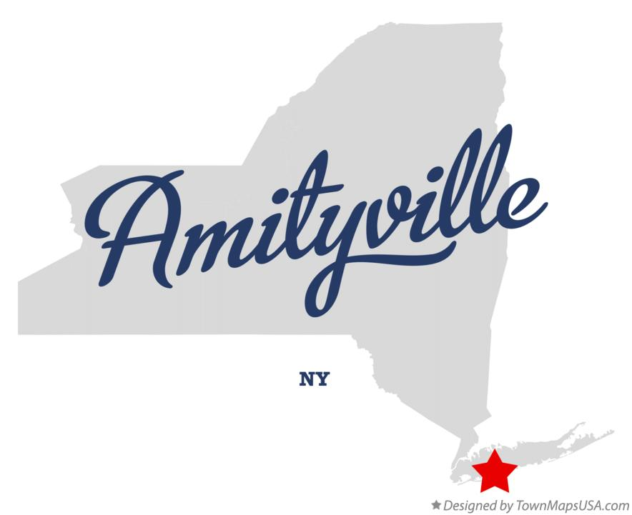 Map of Amityville New York NY