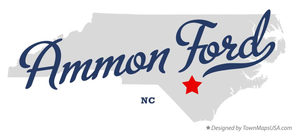 Map of Ammon Ford North Carolina NC