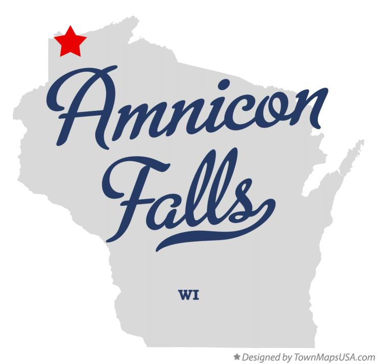 Map of Amnicon Falls Wisconsin WI