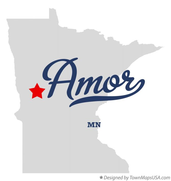 Map of Amor Minnesota MN