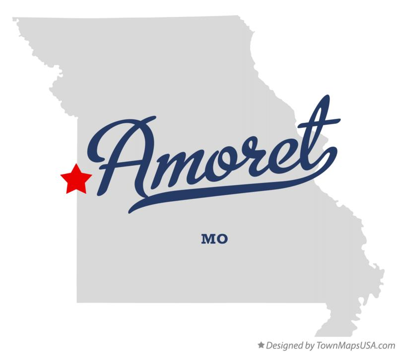 Map of Amoret Missouri MO