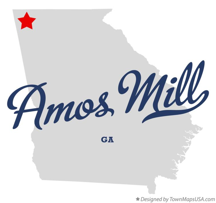 Map of Amos Mill Georgia GA