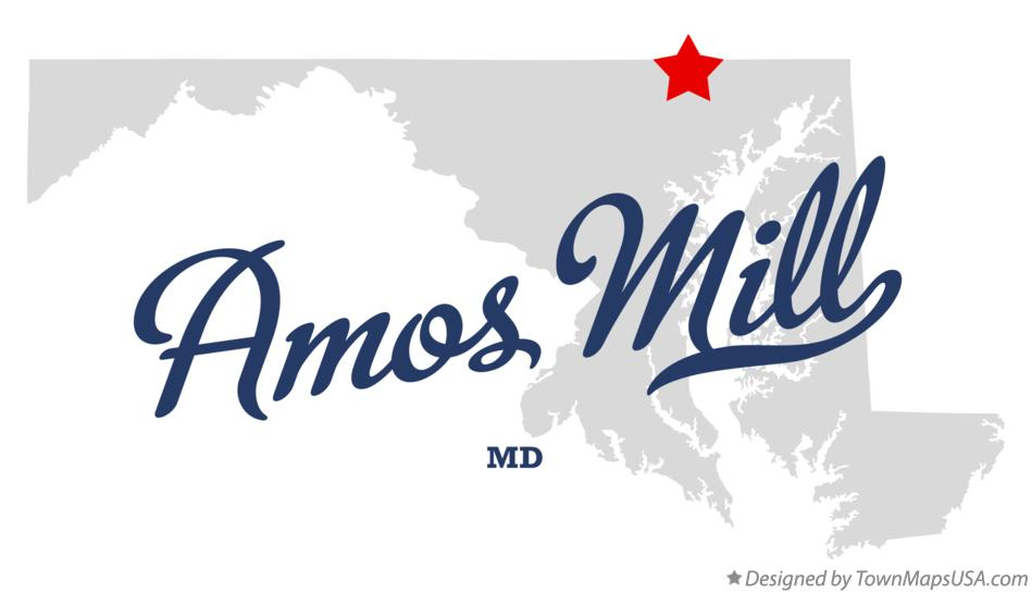 Map of Amos Mill Maryland MD