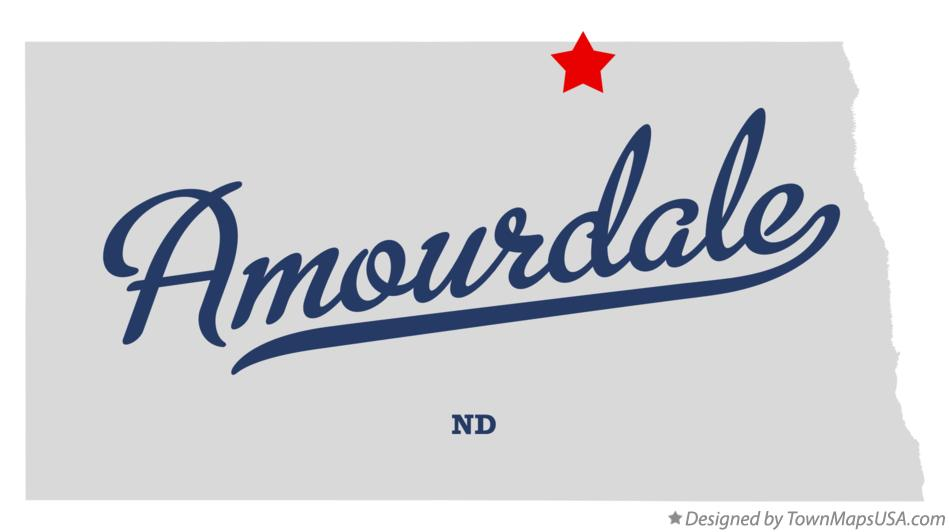 Map of Amourdale North Dakota ND