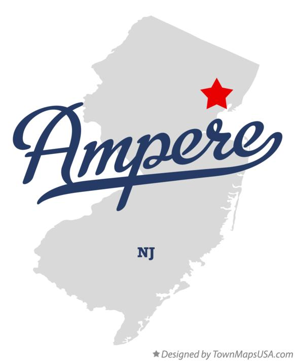 Map of Ampere New Jersey NJ