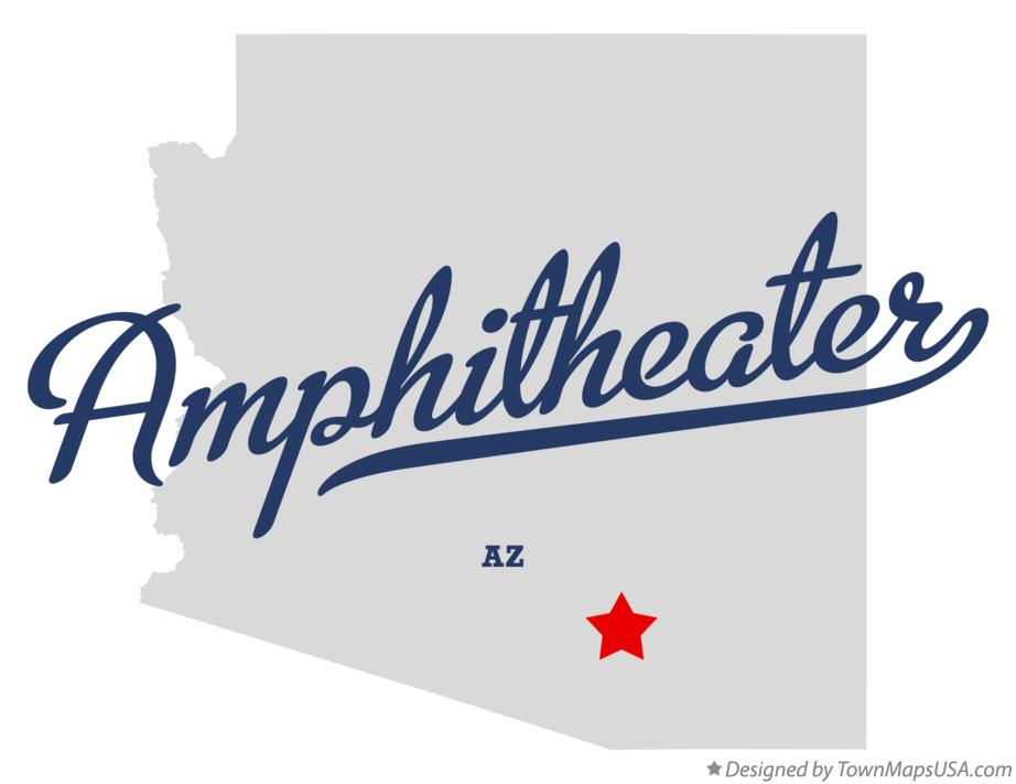 Map of Amphitheater Arizona AZ