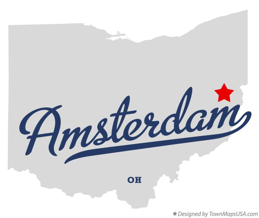 Map of Amsterdam Ohio OH