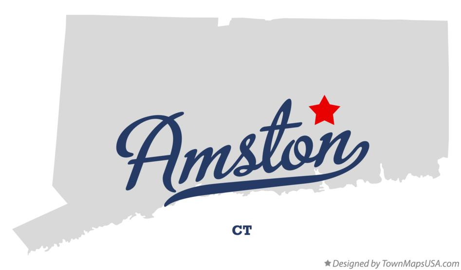 Map of Amston Connecticut CT