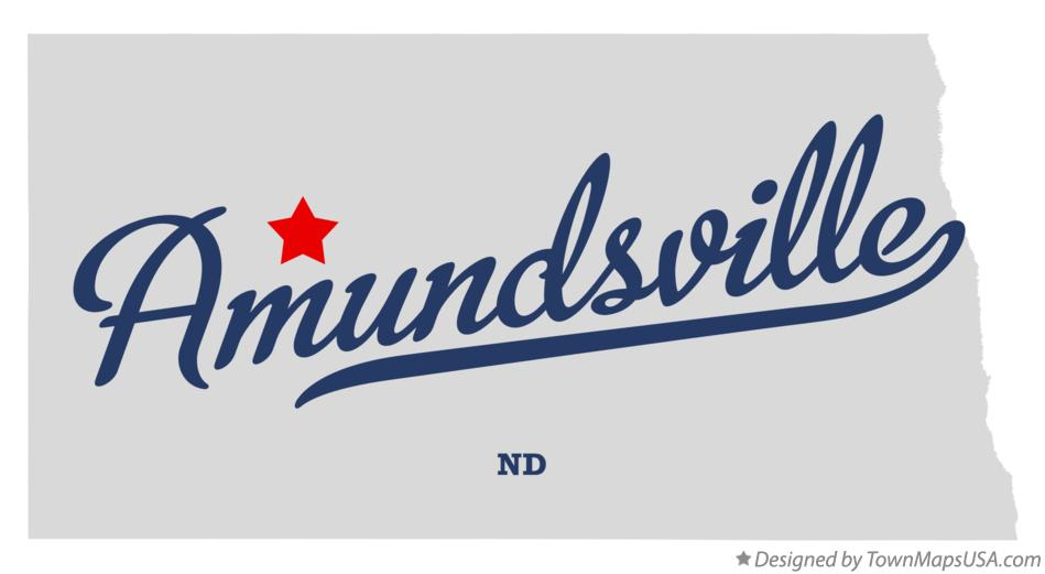 Map of Amundsville North Dakota ND