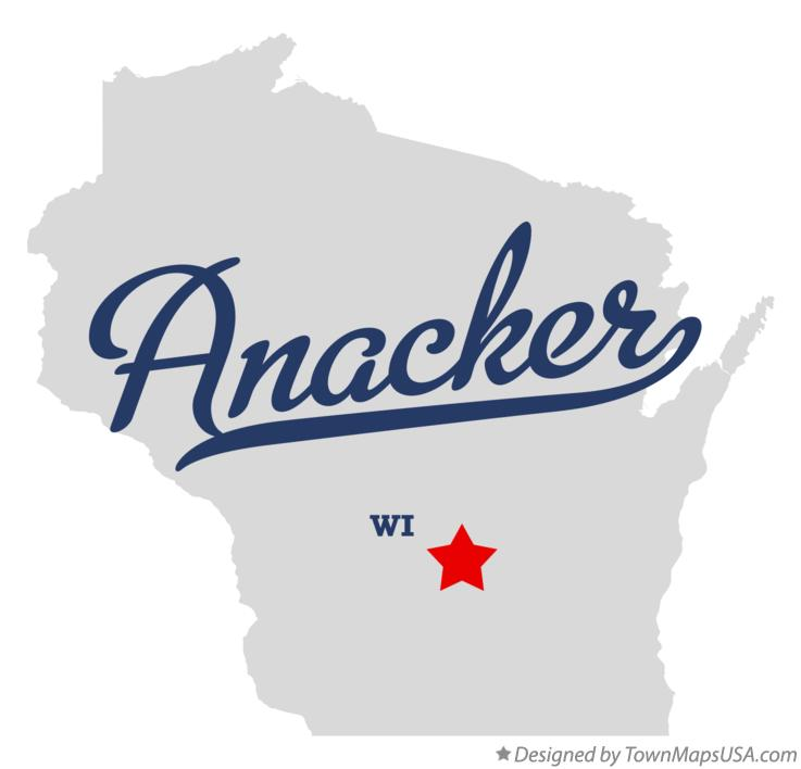 Map of Anacker Wisconsin WI