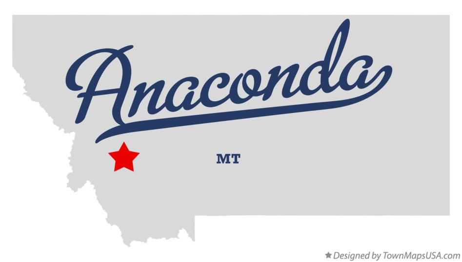 Map of Anaconda Montana MT