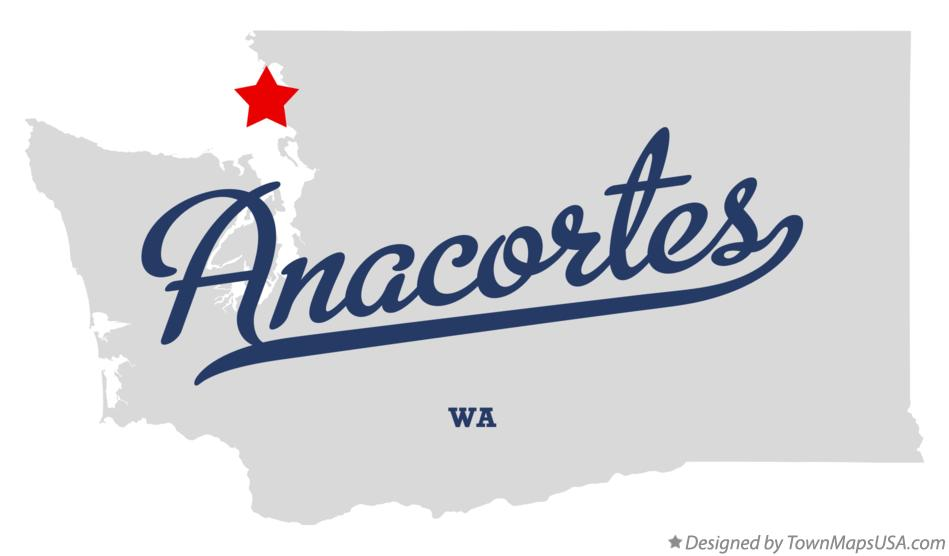 Map of Anacortes Washington WA