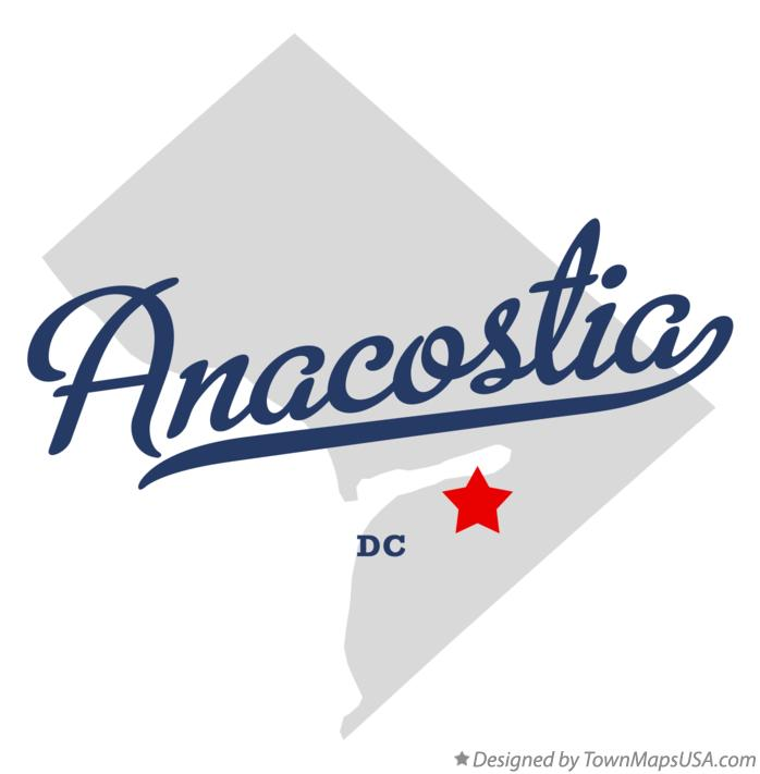 Map of Anacostia District Of Columbia DC