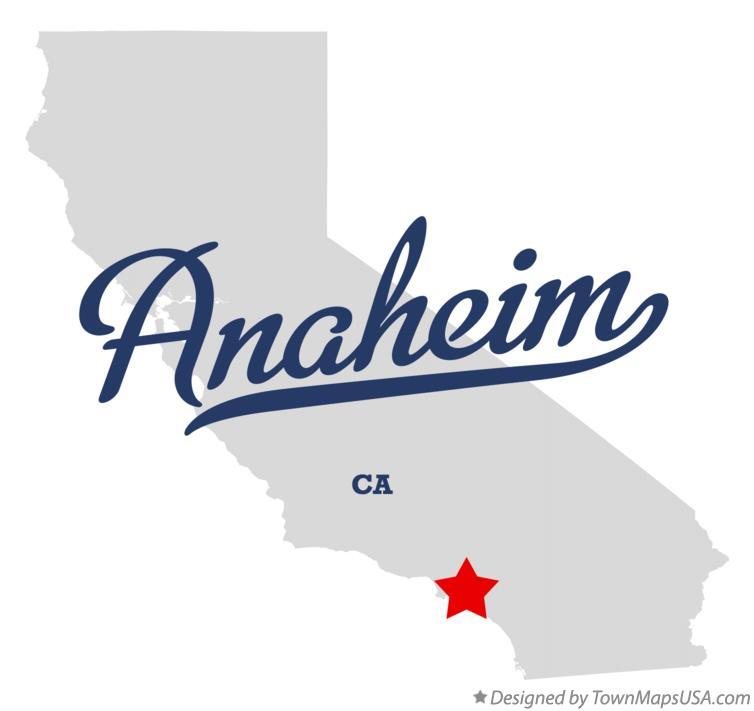 Map Of Anaheim Ca California