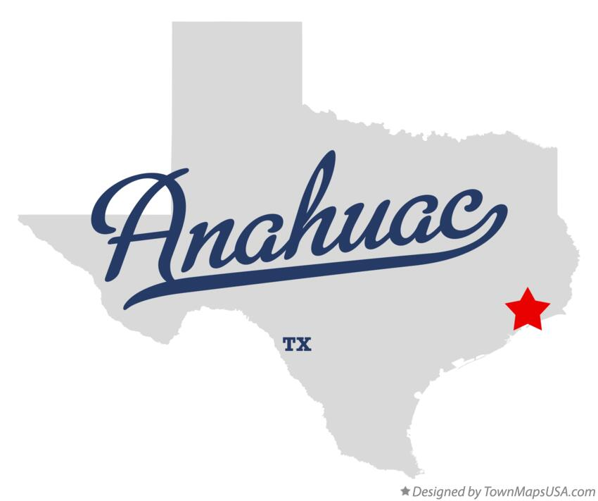 Map of Anahuac Texas TX