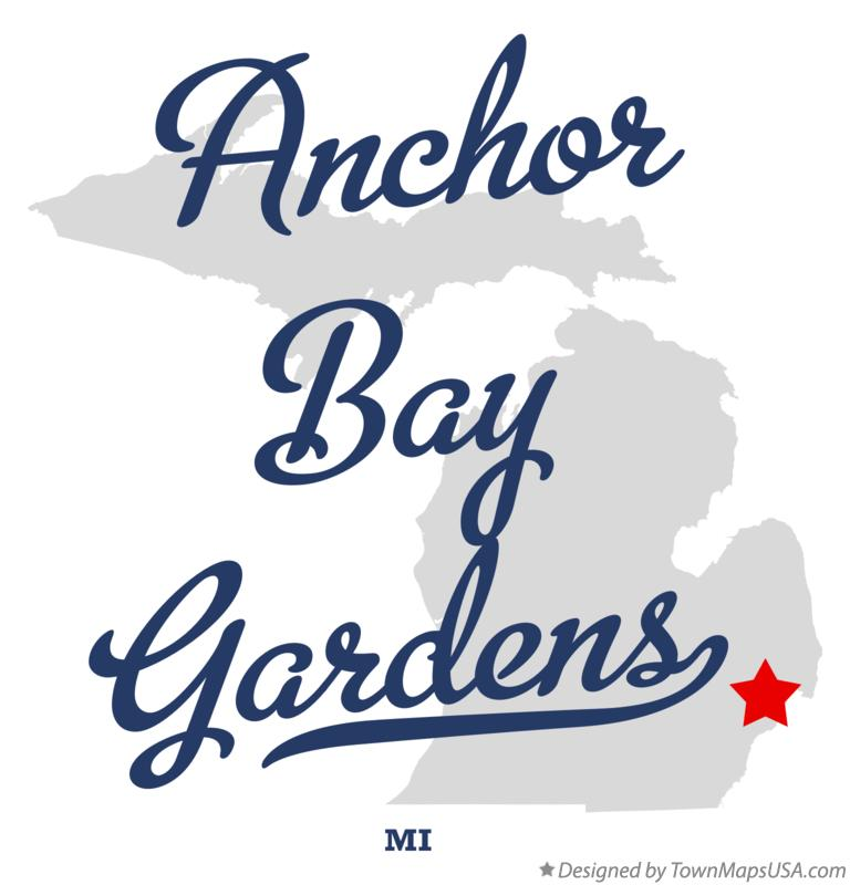 Map of Anchor Bay Gardens Michigan MI