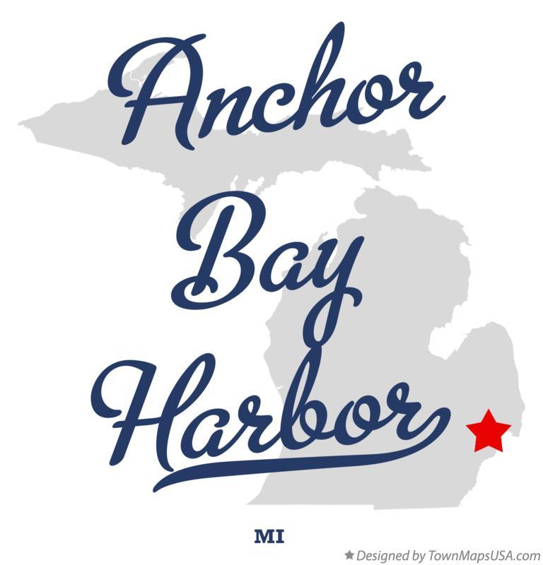 Map Of Anchor Bay Harbor Mi Michigan