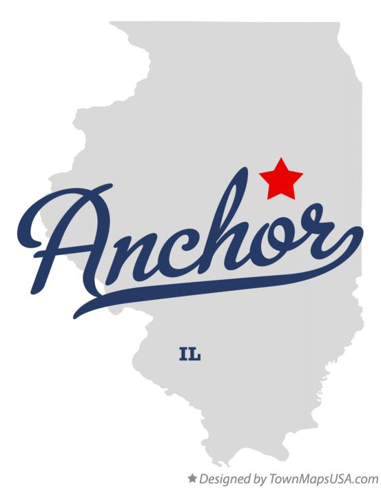 Map of Anchor Illinois IL