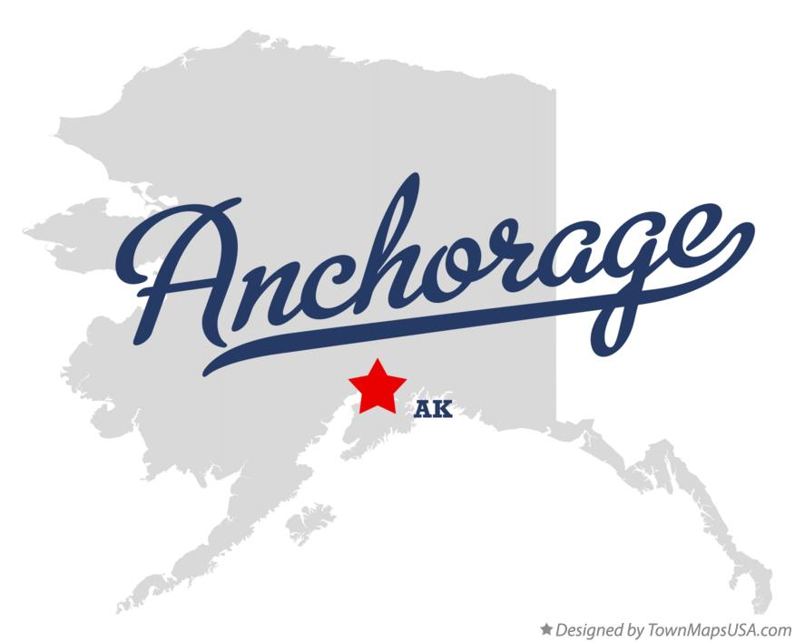 Map of Anchorage Alaska AK
