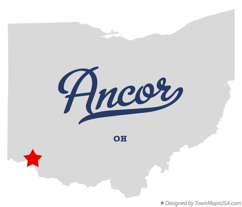 Map of Ancor Ohio OH