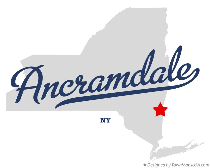 Map of Ancramdale New York NY