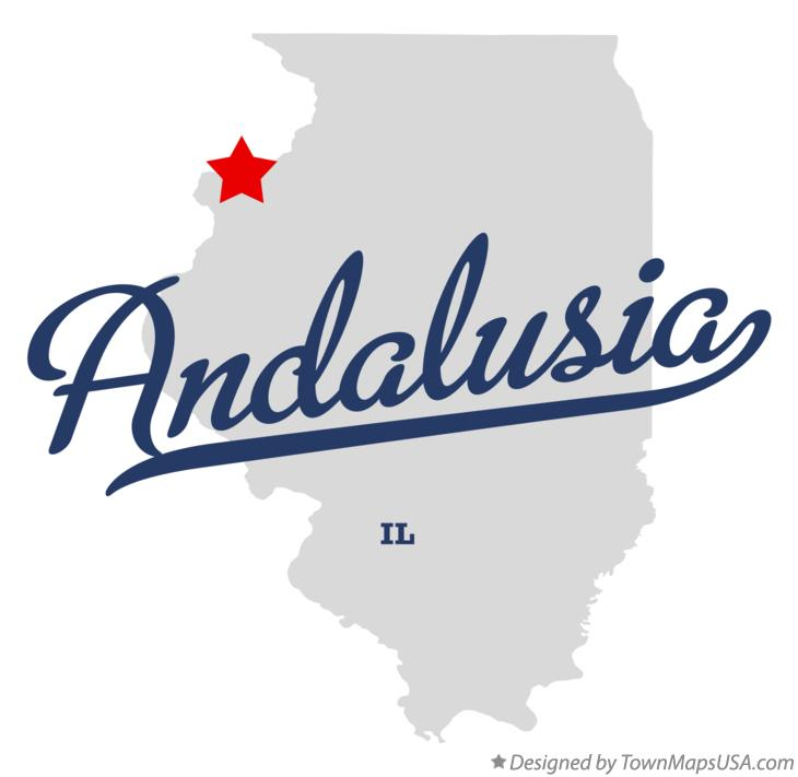 Map Of Andalusia IL Illinois - Map of andalusia