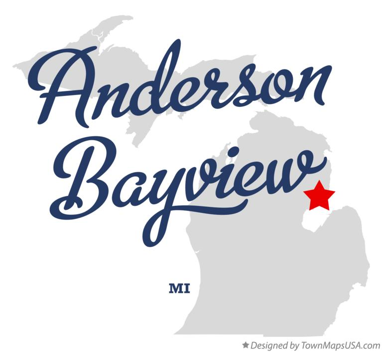 Map of Anderson Bayview Michigan MI