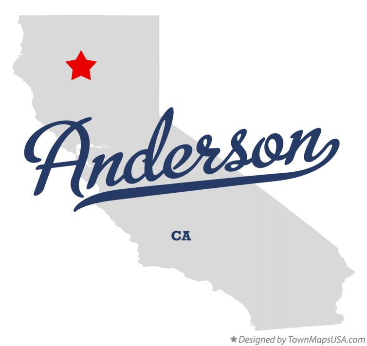 Map of Anderson, CA, California