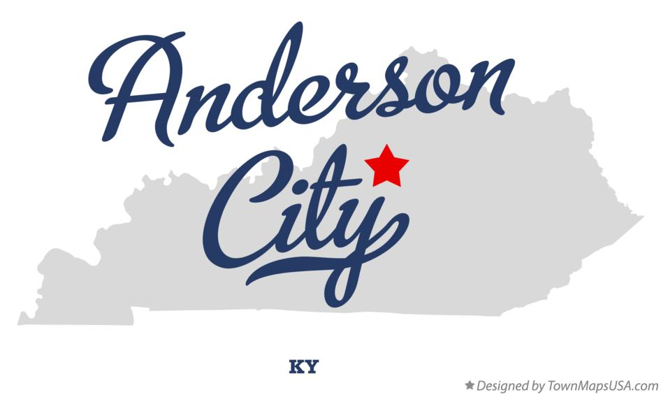 Map of Anderson City Kentucky KY