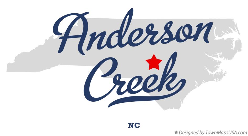 Map of Anderson Creek North Carolina NC