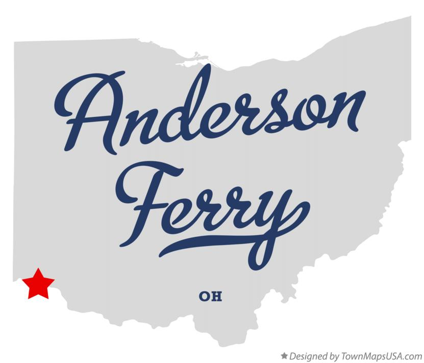 Map of Anderson Ferry Ohio OH