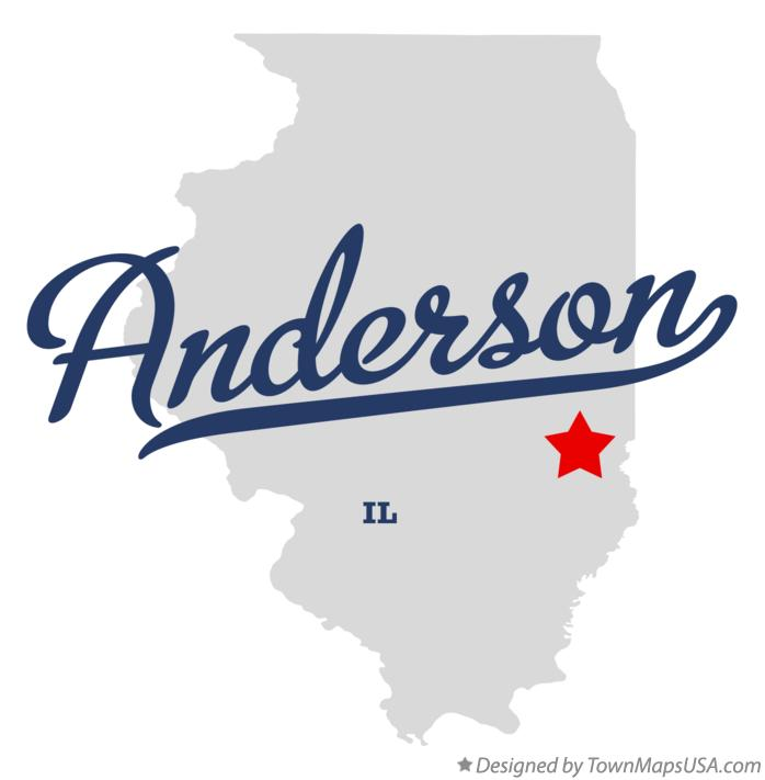 Map of Anderson Illinois IL