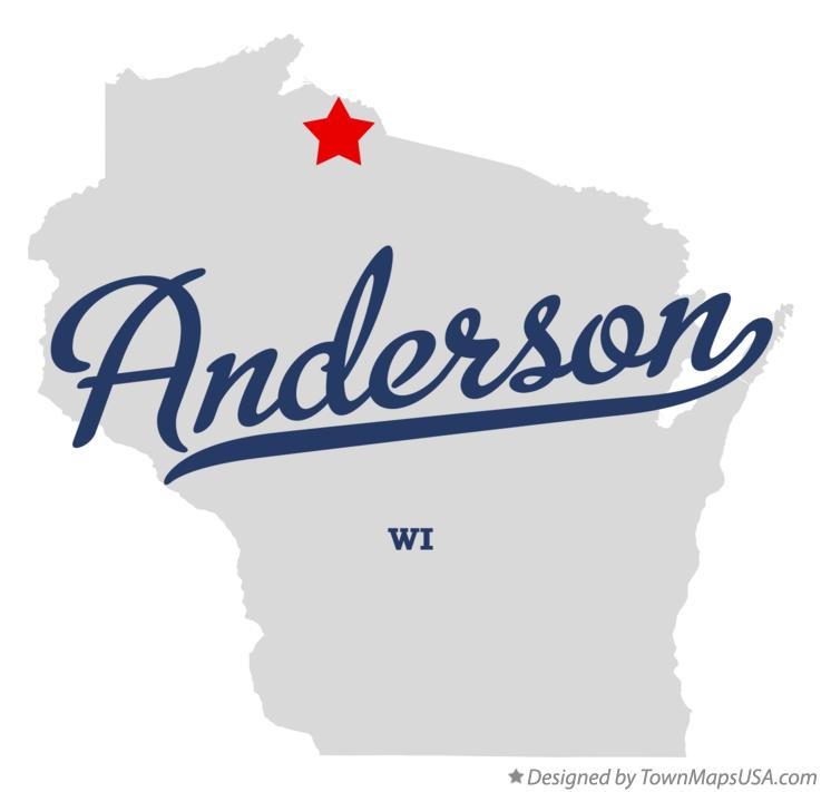 Map of Anderson Wisconsin WI