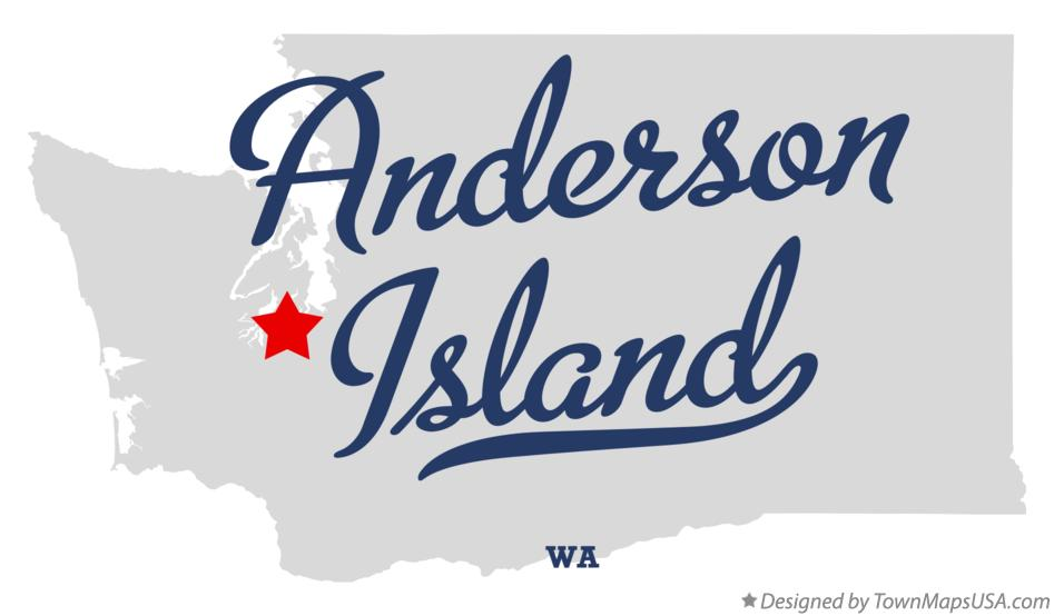 Map of Anderson Island Washington WA