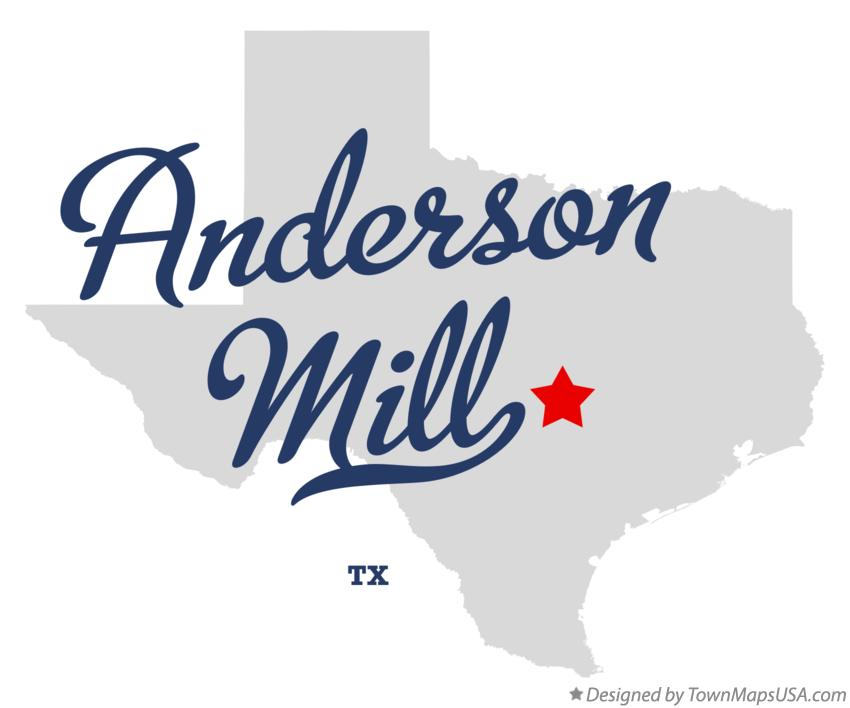 Map of Anderson Mill Texas TX